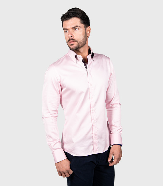 Shirt Roma Satin Light Pink