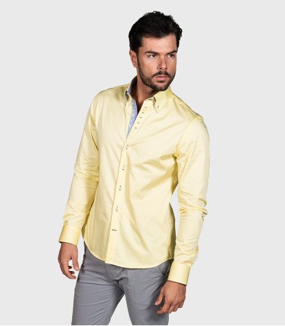 Chemises homme Satin Plaine