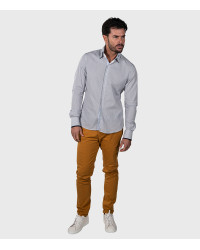 Shirt Colosseo Cotton White and Blue