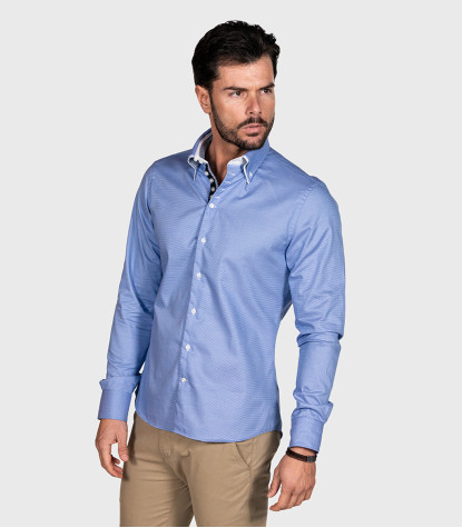 Shirt Marco Polo Cotton Blue White