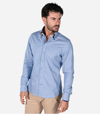 Shirt Marco Polo jacquard White Blue