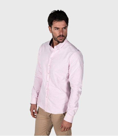 Shirt Leonardo Cotton PinkWhite