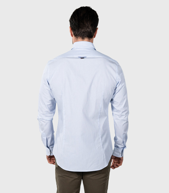 Shirt Leonardo Cotton Light Blue White
