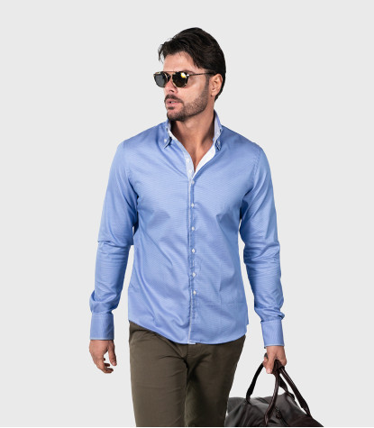 Shirt Colosseo Cotton BlueWhite