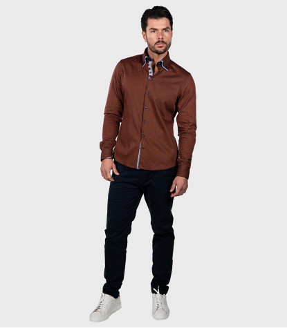 Chemises homme Satin Narrow rayé