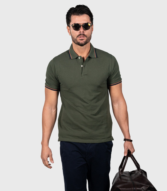 Olive Green Piquet Polo Shirt