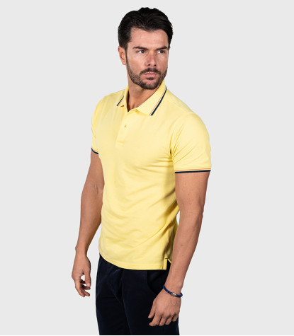 Polo Piquet Amarillo Ocre