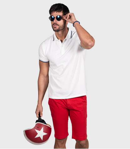 Red Bermuda Pants