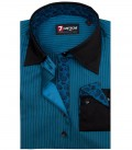 Shirt Beatrice Satin Seaport Blue Black