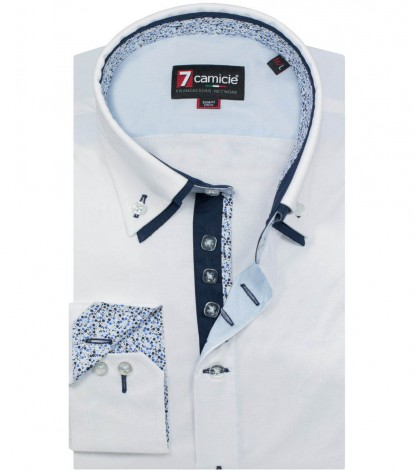 Camicia Marco Polo Popeline stretch Bianco