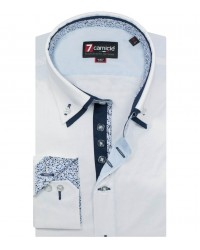 Shirt Marco Polo stretch poplin White