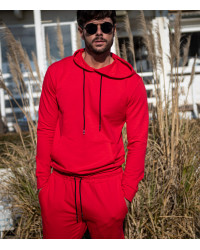 Cotton Complete Tracksuit For Men Solid Red