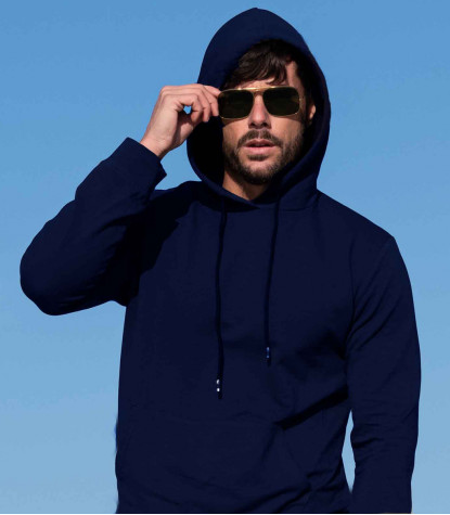 Cotton Complete Tracksuit For Men Solid Dark Blue