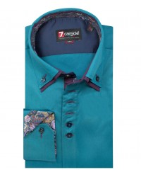 Shirt Marco Polo Satin Teal Green