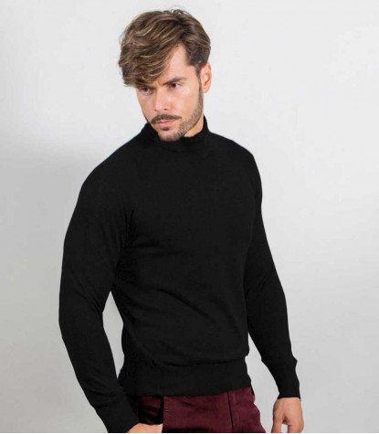 Men's Black Turtleneck Turtleneck Sweater