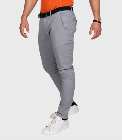 Trousers Chinos Premium Quality Light Gray