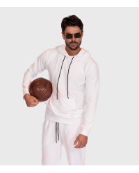 Cotton Complete Tracksuit For Men Solid White