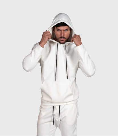 Suede Complete Tracksuit For Men Solid White
