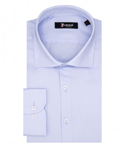 Florence Man Shirt 1 French Button Oxford Light Blue