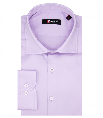 Florence Man Shirt 1 French Button Lilac Satin