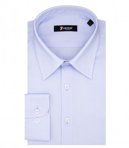 Romeo 1 Button Italian Shirt Light Blue Oxford