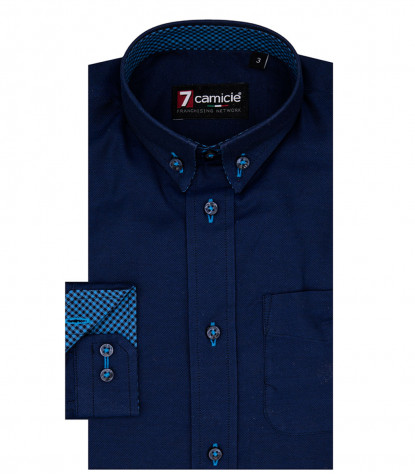 Camisas Francesco Oxford Azul