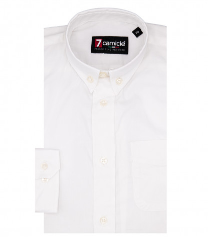 Camisas Francesco Popelin stetch Blanco