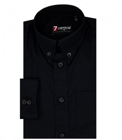 Shirt Francesco poplin Black
