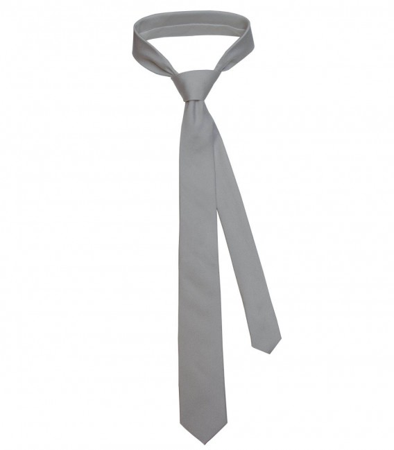 Tie Navona Silk Light Grey