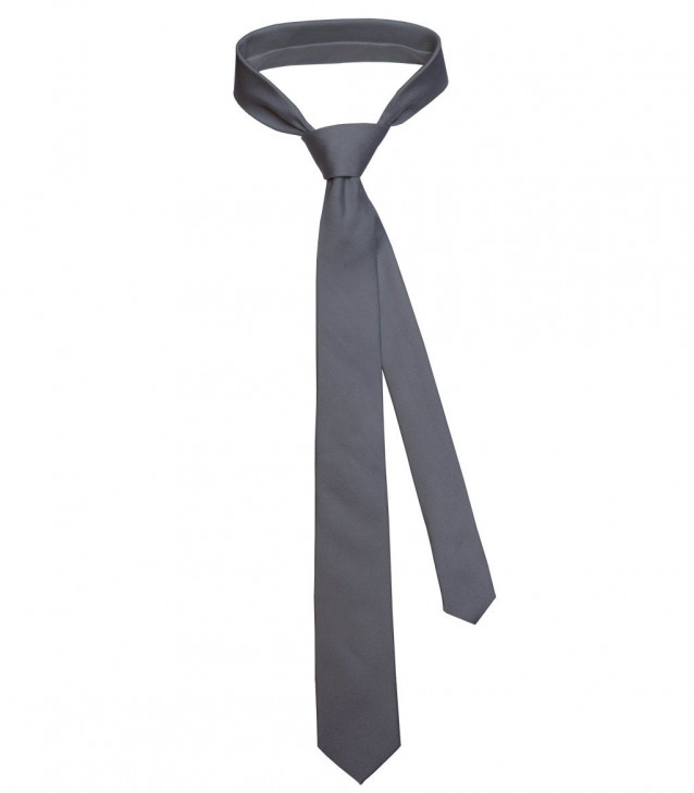 Tie Navona Silk Medium grey
