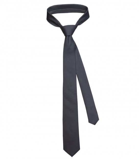 Tie Navona Silk Dark Grey