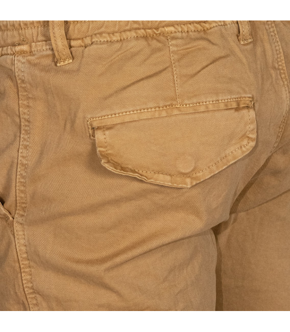 Men's Cargo Pants with Side Pockets Mustard Yellow