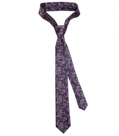Tie Navona Silk BlueRed