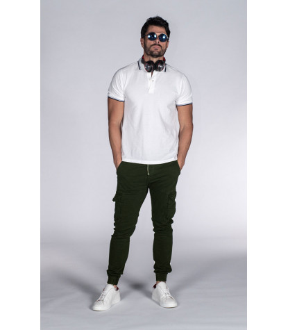 Military Green Cargo Pants with Side Pockets