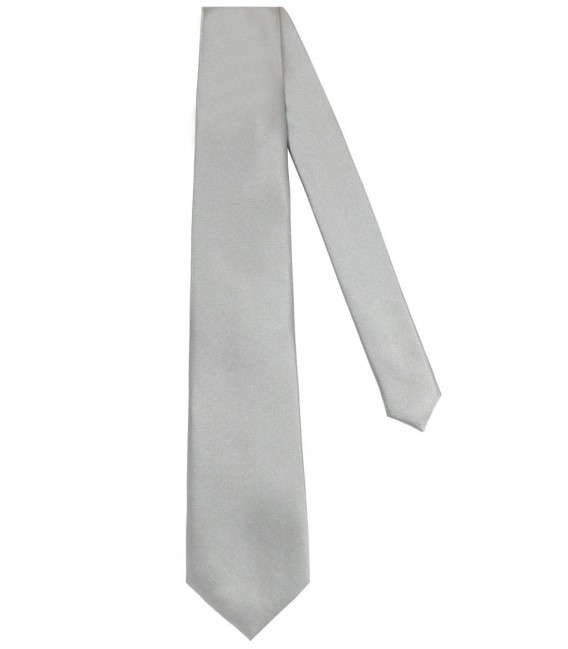 Tie Trevi Silk Light Grey