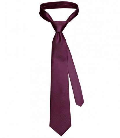 Tie Trevi Red Bordeaux