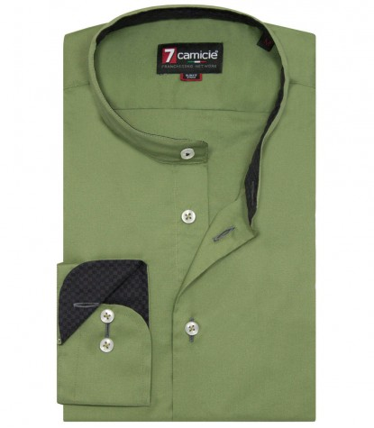Shirt Caravaggio stretch poplin Military Green