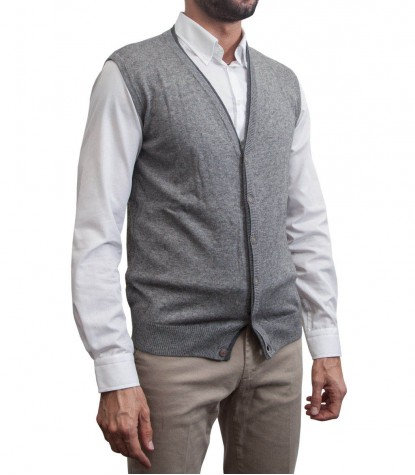 Gilet Milano Grey and Dark Grey