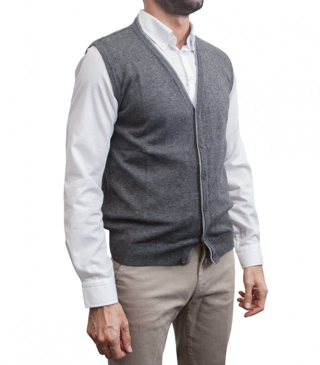 Waistcoat Milano dark grey and light grey