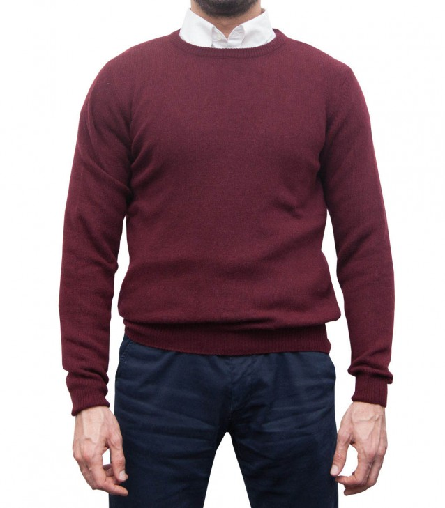 Knitwear Roma wool Nylon Red Bordeaux