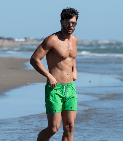 Light Green Man Swimsuit with Horse Fantasy
