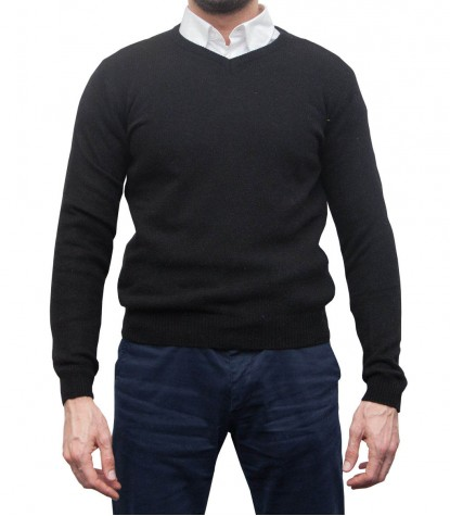 Knitwear Roma wool Nylon Black