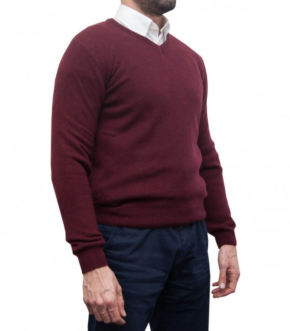 Knitwear Roma Red Bordeaux