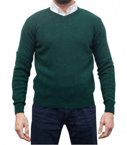 Knitwear Roma wool Nylon Dark Green