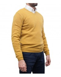 Knitwear Roma wool Nylon Ocher Yellow