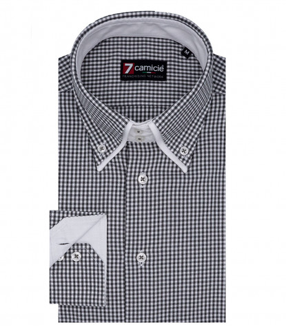 Shirt Marco Polo Cotton Beige and Medium Gray