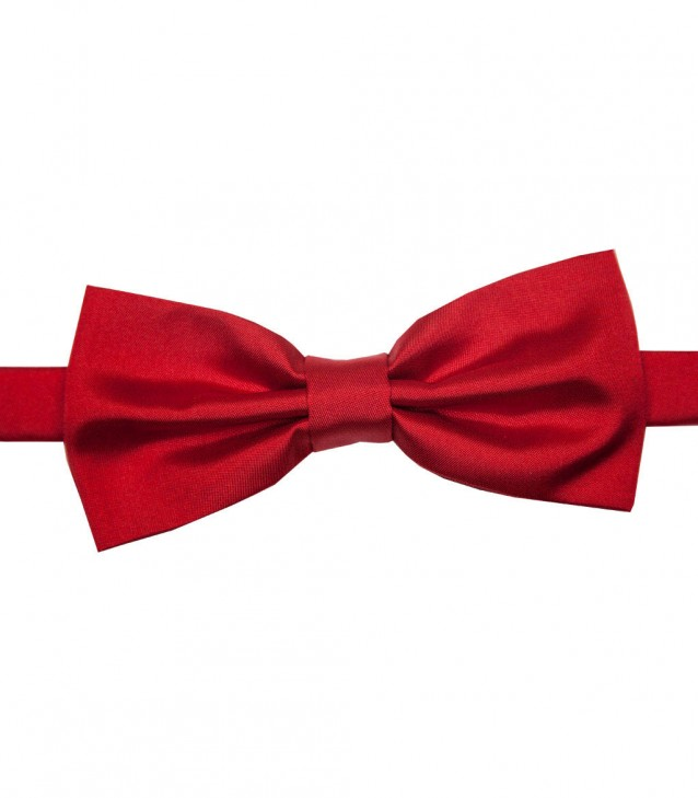 Bow Tie Roma Silk Red