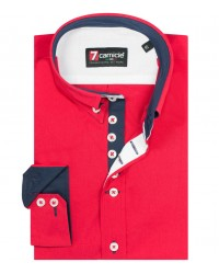 Shirt Francesco poplin Red