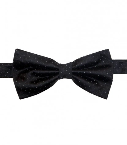 Bow Tie Roma Silk BlackWhite