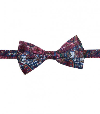 Bow Tie Roma Rosso Bordeaux Bianco
